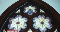Ornamental half circle window