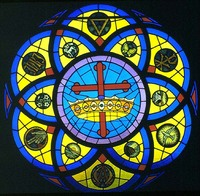 Twelve Symbols Rose Window
