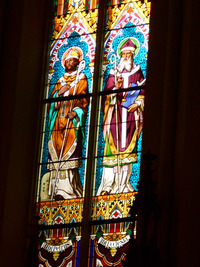 St. Ambrose and St. Boniface close-up
