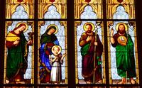 John the Evangelist, Holy Family, John the Baptist close-up