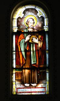 St. Mark Window photo by Dave Daniszewski