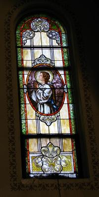 St. Maria Goretti Window photograph by Dave Daniszewski