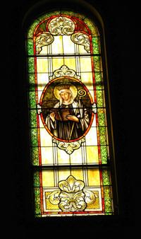 St. Scholastica Window photo by Dave Daniszewski
