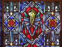 Lion, the symbol of Apostle Mark close-up