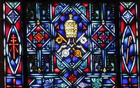 Papal tiara close-up