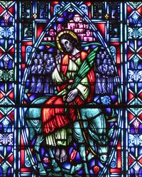 Christ Enters Jerusalem as King close-up