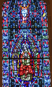 Descent of the Holy Spirit close-up
