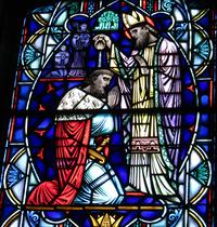 Baptism of Mieszko I close-up