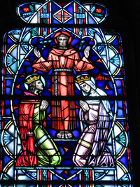 St. Francis blessing St. Louis IX and St. Elizabeth of Hungary
