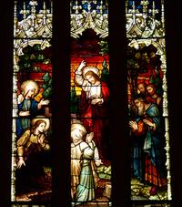 Jesus Raising Lazarus close-up