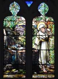 Christ and Sparrow by Tiffany Studios