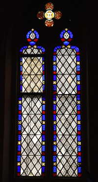 Grisaille glass by Friederichs and Staffin