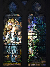 Saint Agnes by Tiffany Studios