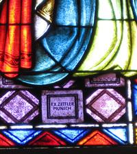 Pentecost Window, signature