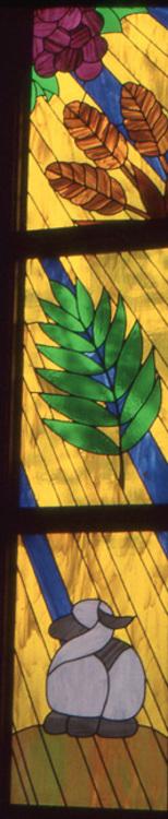 Lamb of God; Palm Leaf; Wheat and Grapes