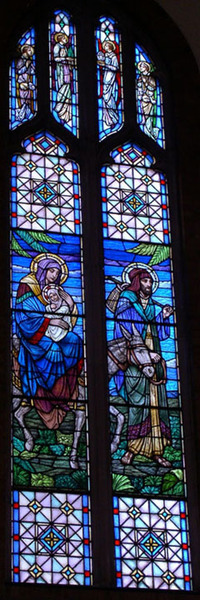 The Flight of Mary, Joseph and child, Jesus into Egypt