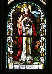 St. Elizabeth of Thuringia close-up