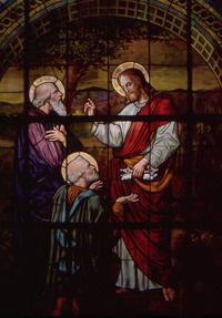 The Confession of St. Peter close-up