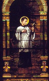 St. Aloysius Gonzaga close-up