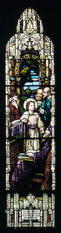 Jesus as a young lad in the temple