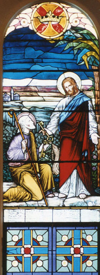 Christ Giving Peter the Keys close-up