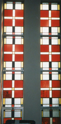 Choir Loft Windows, left and right, close-up