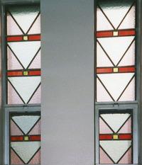 Choir Loft Windows, stairs, close-up