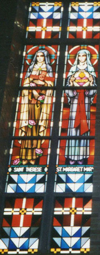St. Therese and St. Margaret Mary, close-up
