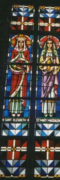 St. Elizabeth and St. Mary Magdalen, close-up