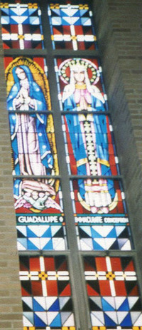 Guadalupe and Immaculate Conception, close-up