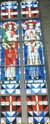St. Agnes and St. Aloysius, close-up