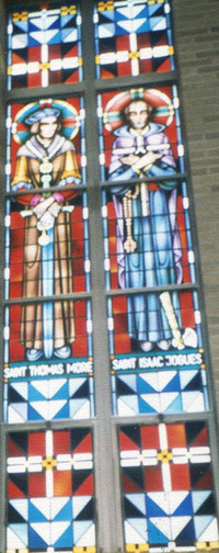 St. Thomas More and St. Issac Jogues, close-up