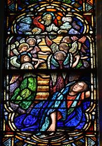 Jacob's Dream at Bethel, close-up