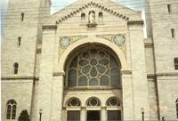 St. Cecilia Rose Window, outside