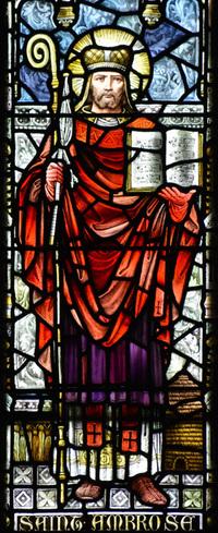 St. Ambrose, close-up