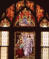 Christ's first appearance after the crucifixion