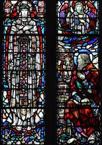 Left: The Bride. Right: St. John Evangelist