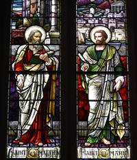 St. Matthew and St. Mark close-up