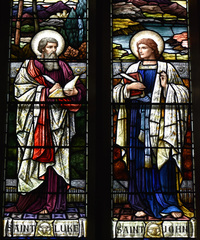 St. Luke and St. John close-up