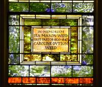 Weed Memorial inscription