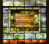 Thompson Memorial inscription