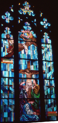 Station 11, Jesus is nailed to cross,; Station 12, Jesus dies on the cross.