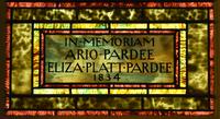 Pardee Memorial inscription