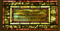 Platt Memorial inscription