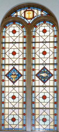 Cross, Clasped Hands, Baptismal Font