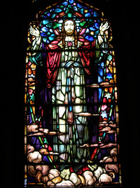 Jesus in the Ascension Window