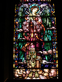 Praying angel in the Ascension Window