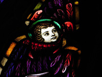 Cherub waiting to welcome the Savior in the Ascension Window