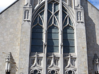 The Ascesion Window from the exterior of the church