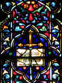 Spiritus Gladius in the Chancel Window